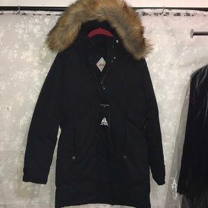Women's X-Small Spire by Galaxy Black Parka Coat
